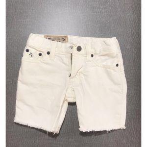 Polo Ralph Lauren off white cut off jeans shorts